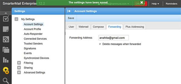 فوروارد یک ایمیل به آدرس ایمیل دیگر